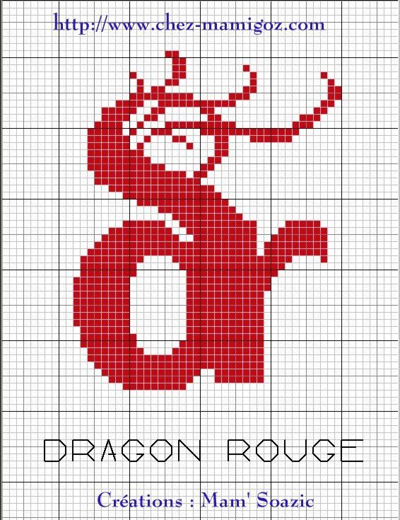 Logo stylisé brodé des Dragons Rouges Catalans