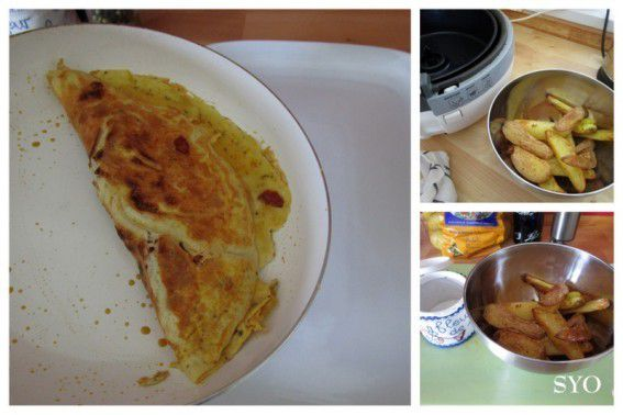 Omelette Chorizo et Potatoes du Petit Bistro