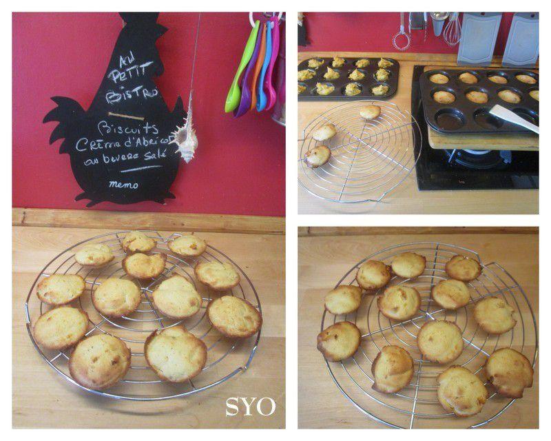 Biscuits au beurre salé, Crème d'Abricot des 4 saisons
