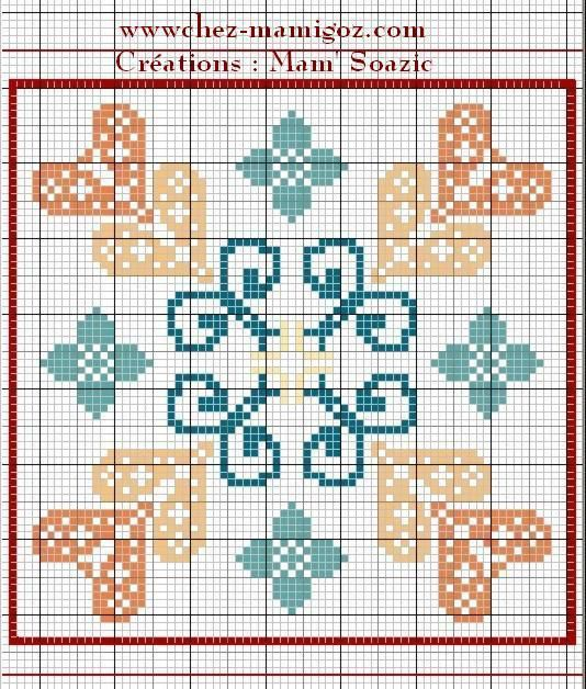 Plaid Patchwork brodé : Case n° 48