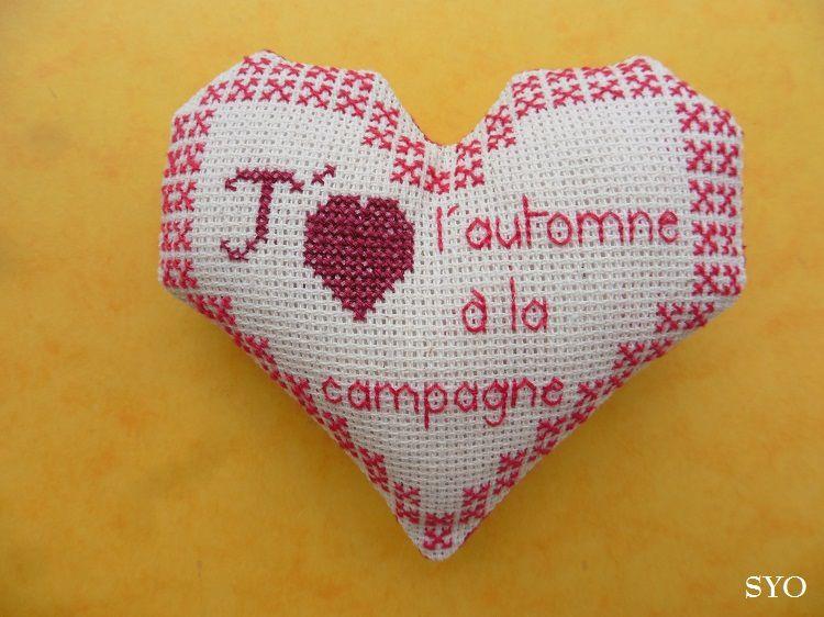 Cœur Valentin: J'aime L'automne à la Campagne  , face 1