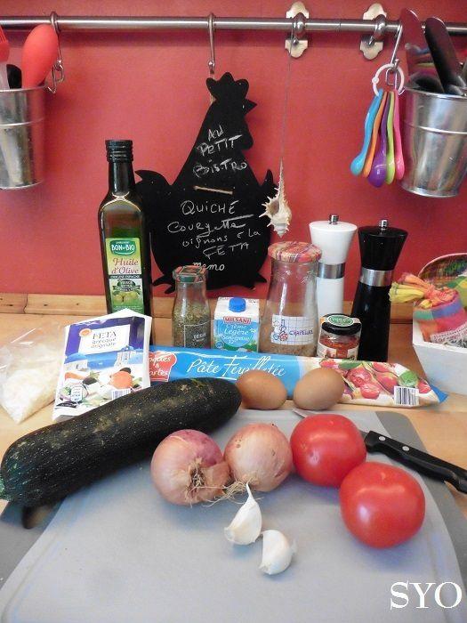 Quiche gratinée : Courgette, Oignon, Tomate et Fêta