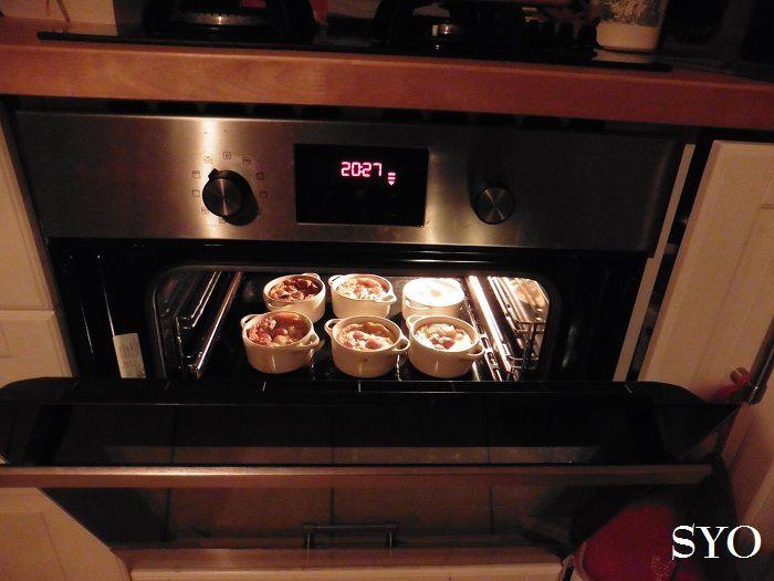 Clafoutis d'Automne en cocotte: Pomme, Noix et raisins