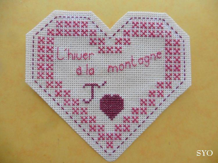 Cœur Valentin Hiver à la Montagne: face A