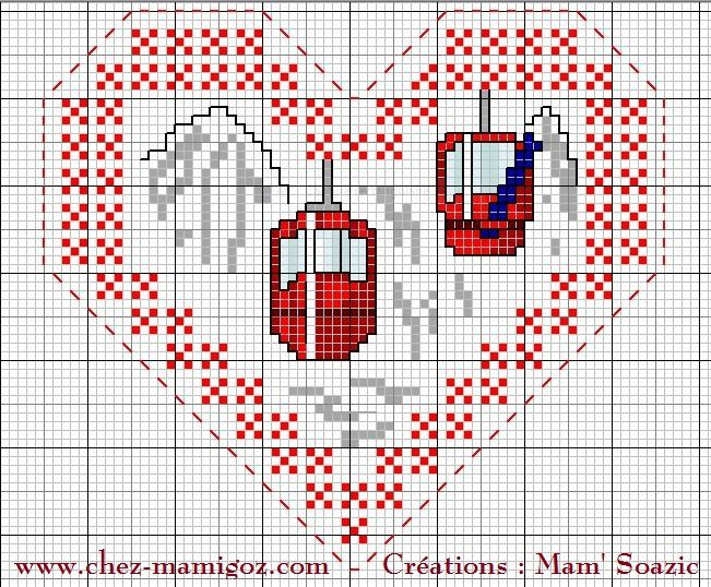 Cœur Valentin Hiver à la Montagne: face B