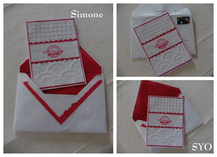Le Cadeau d' Amélie, les cartes et enveloppe brodées