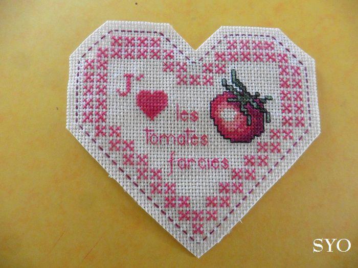 Cœur Valentin Gourmandises:  les Tomates farcies Face A