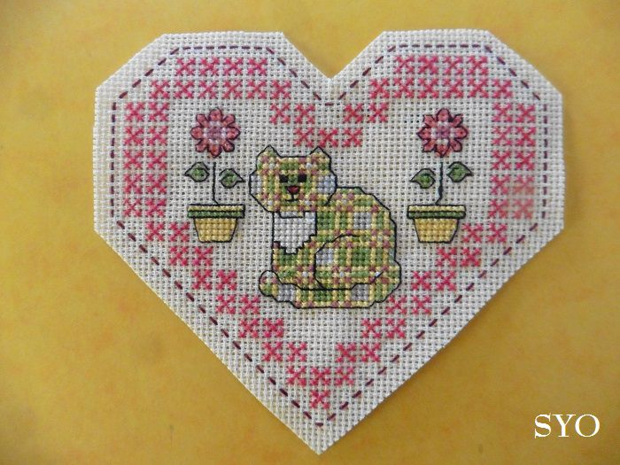 Cœur Valentin Chat Patchwork : face A