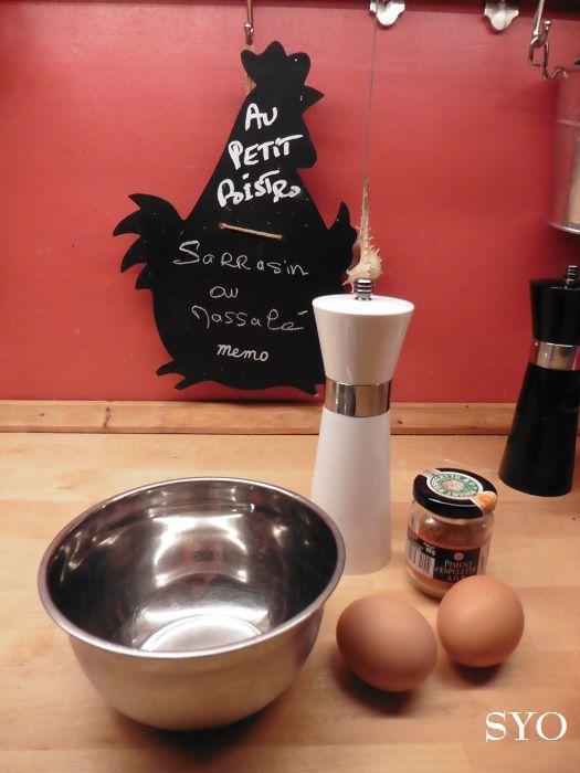 Graines de Sarrasin au Massalé,  omelette Piment d'Espelette