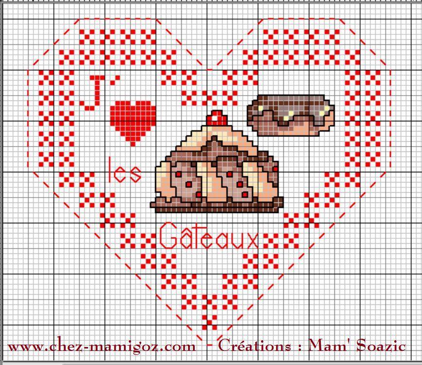 Cœur Valentin Gourmandises: J' aime les gâteaux Face A