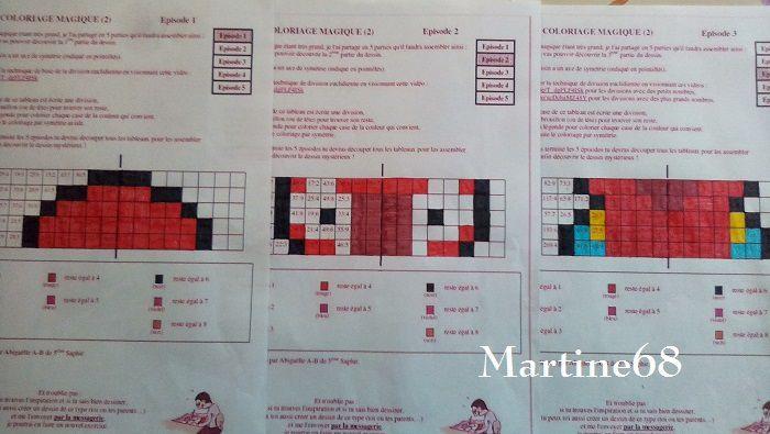 Coloriage Magique 4 ème partie de Mme S