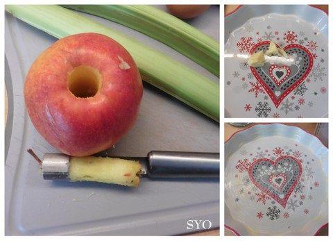 Tarte Flan sans pâte Rhubarbe / Pomme de Mamigoz