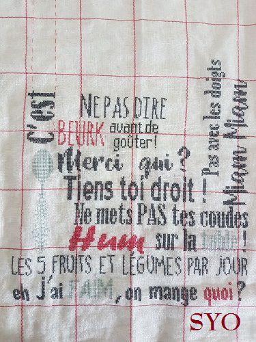 Torchon du Livre d'Amélie, ma première correction