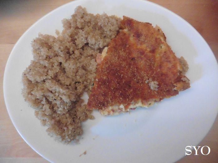 Quiche sans pâte à la provençale et son Quinoa