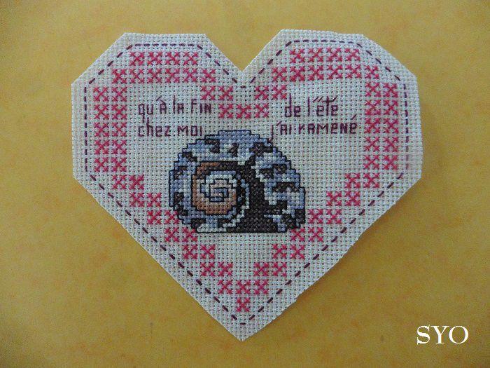 Cœur Valentin Votre Coquillage d'été  : face B