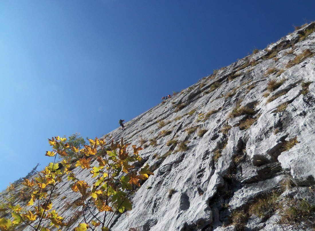 Grandes voies aux dalles de la Rosière