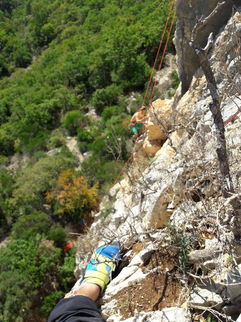 Sortie falaise Pont de Barret