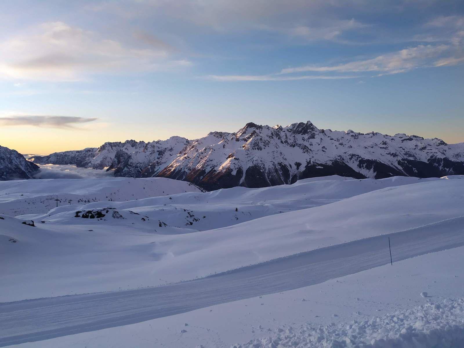 Cascade de glace à l'Alpe d'Huez