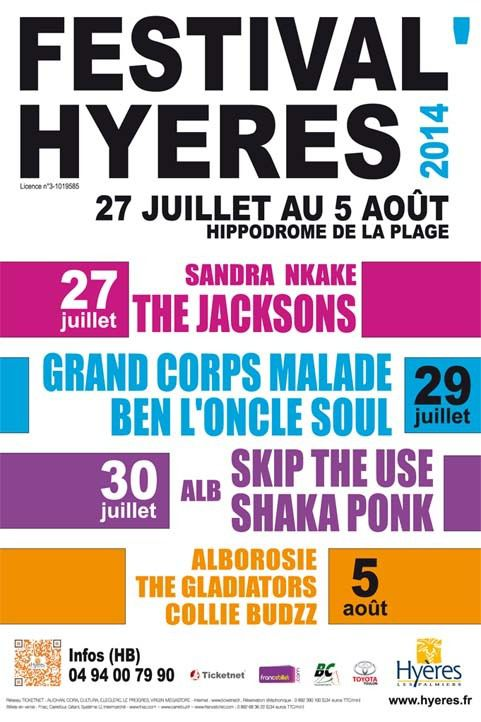 Festival'Hyères: Alb, Skip The Use et Shaka Ponk!