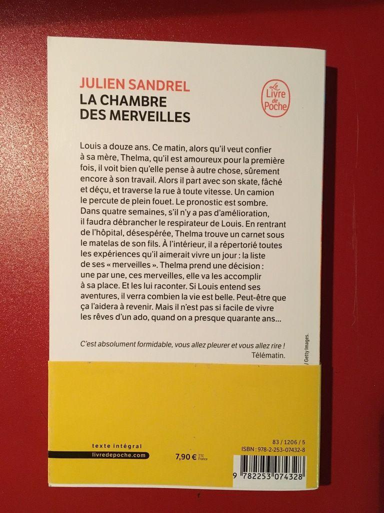 « La Chambre des Merveilles », de Julien SANDREL - Le Livre de Poche - Quatrième de couverture