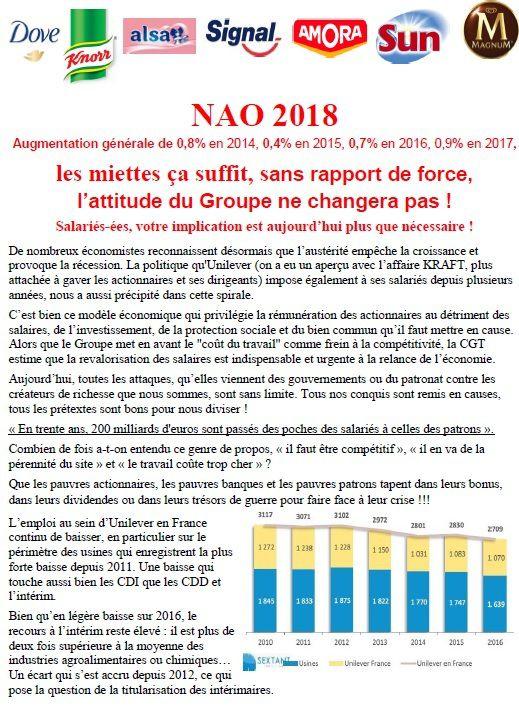 TRACT négociations salariales Unilever France HPCI Le meux