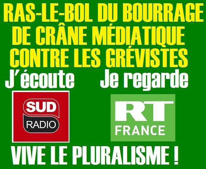 RAS-LE-BOL du BOURRAGE de CRÂNE ANTI-GRÉVISTES !