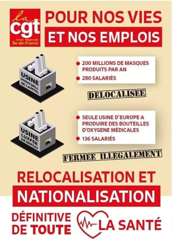 RELOCALISATION et NATIONALISATION de toute la SANTÉ !