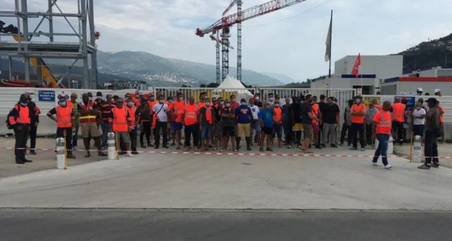 Nice. Face à un Plan de Départs Volontaires, des travailleurs du BTP bloquent leur chantier