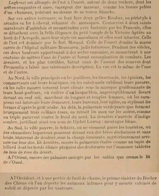 Laghouat déscription deAttallah Souffi (B.le roc.sur facebook).