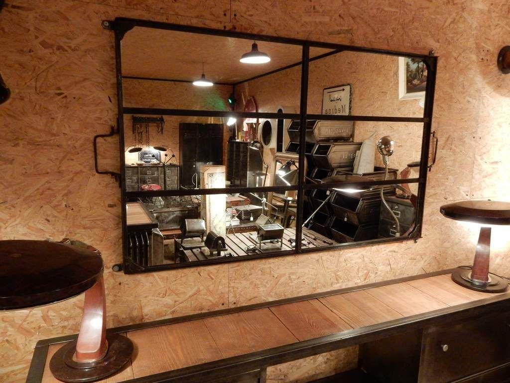 grand miroir rivet 6 panneaux structure 1900 geonancy design. Black Bedroom Furniture Sets. Home Design Ideas
