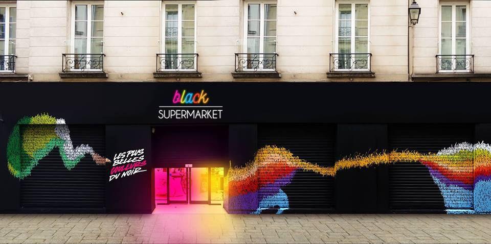 Black supermarket: nouveau lieu éphémère qui met le street art à l'honneur