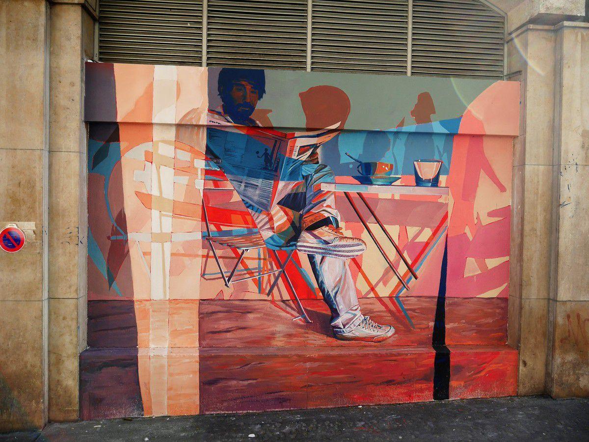 Street art au marché des Batignolles
