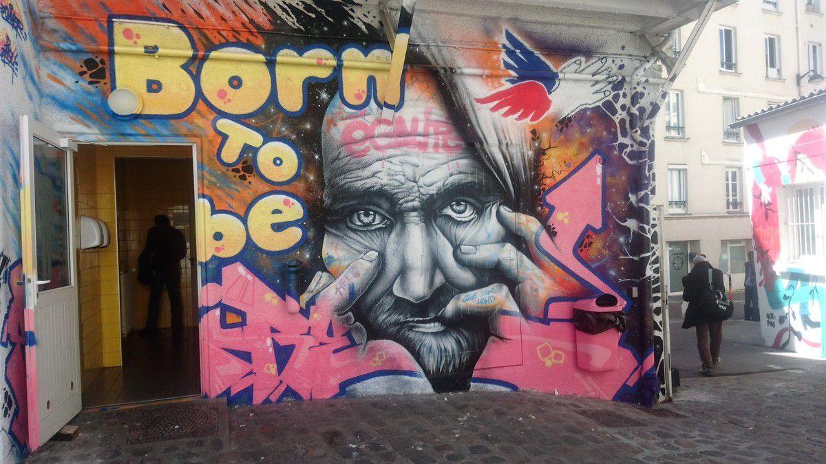 street art au Secours Populaire