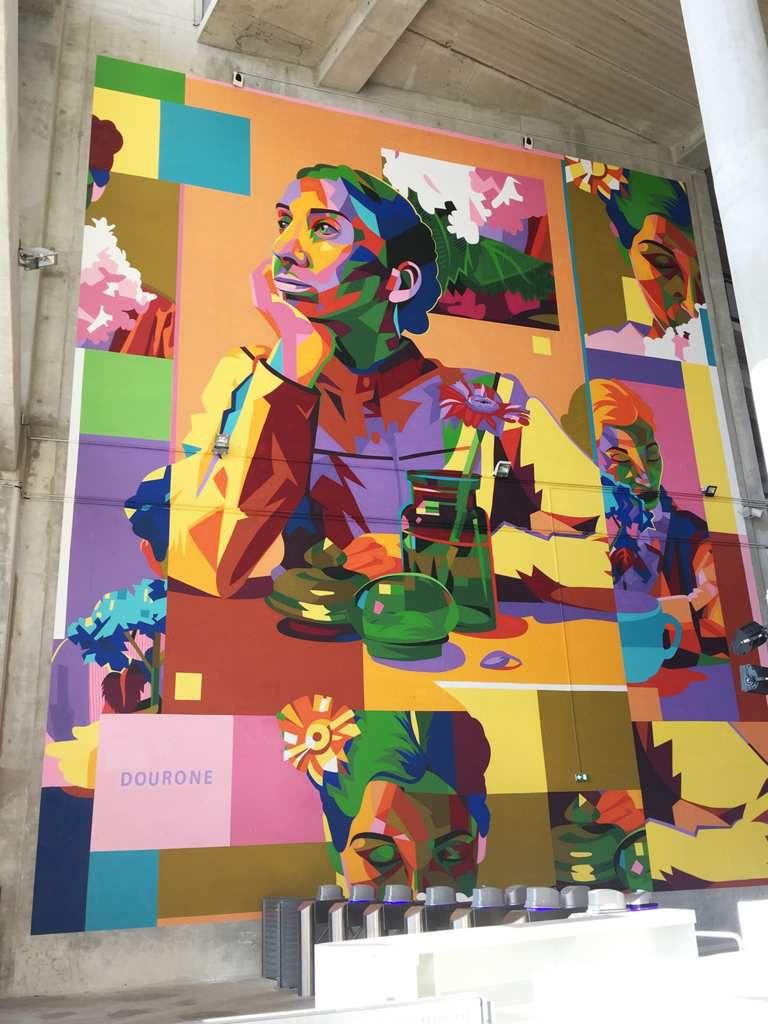 Du street art sur les murs du Groupama Stadium à Lyon