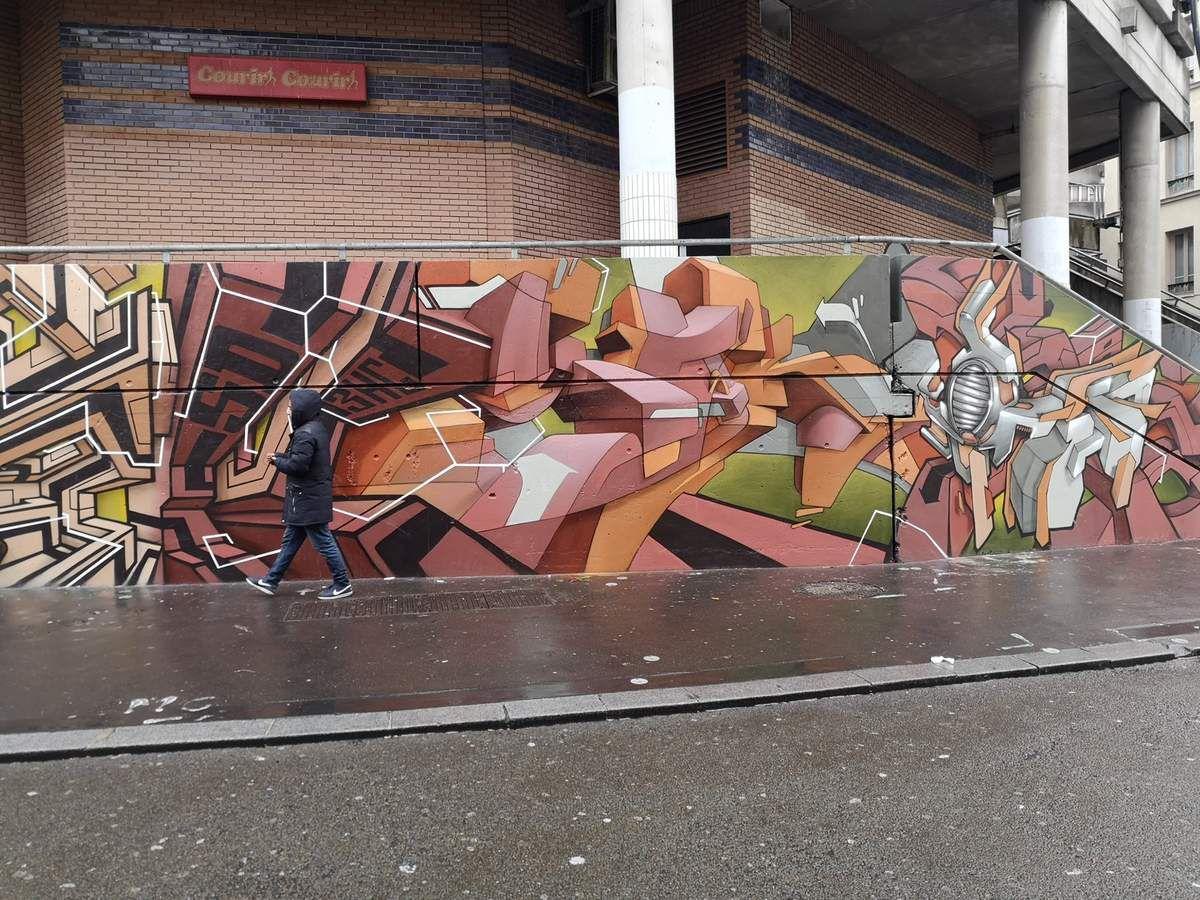 Le Mur 93 à Saint-Denis