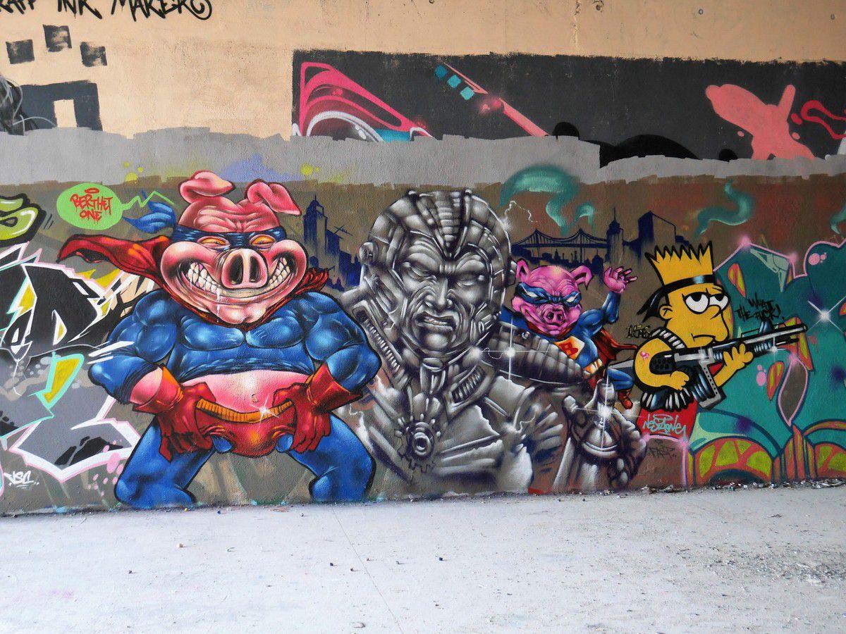 Street art autour du Lavomatik - Paris 13