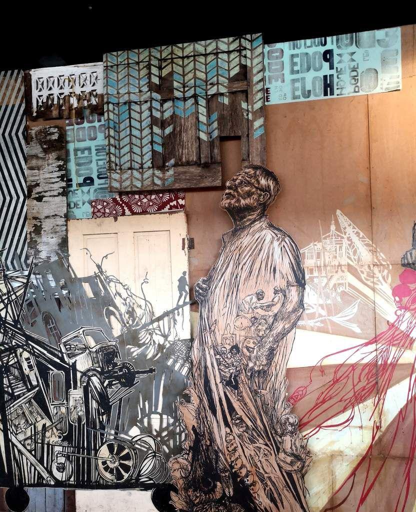 """Exposition """"Time capsule"""" de Swoon au musée du street art Fluctuart"""