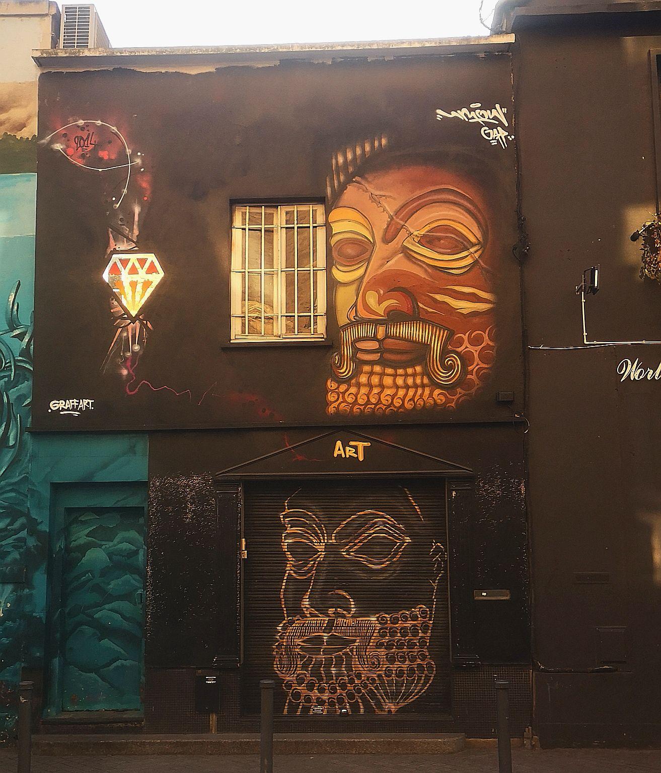 Street art aux puces de Saint-Ouen