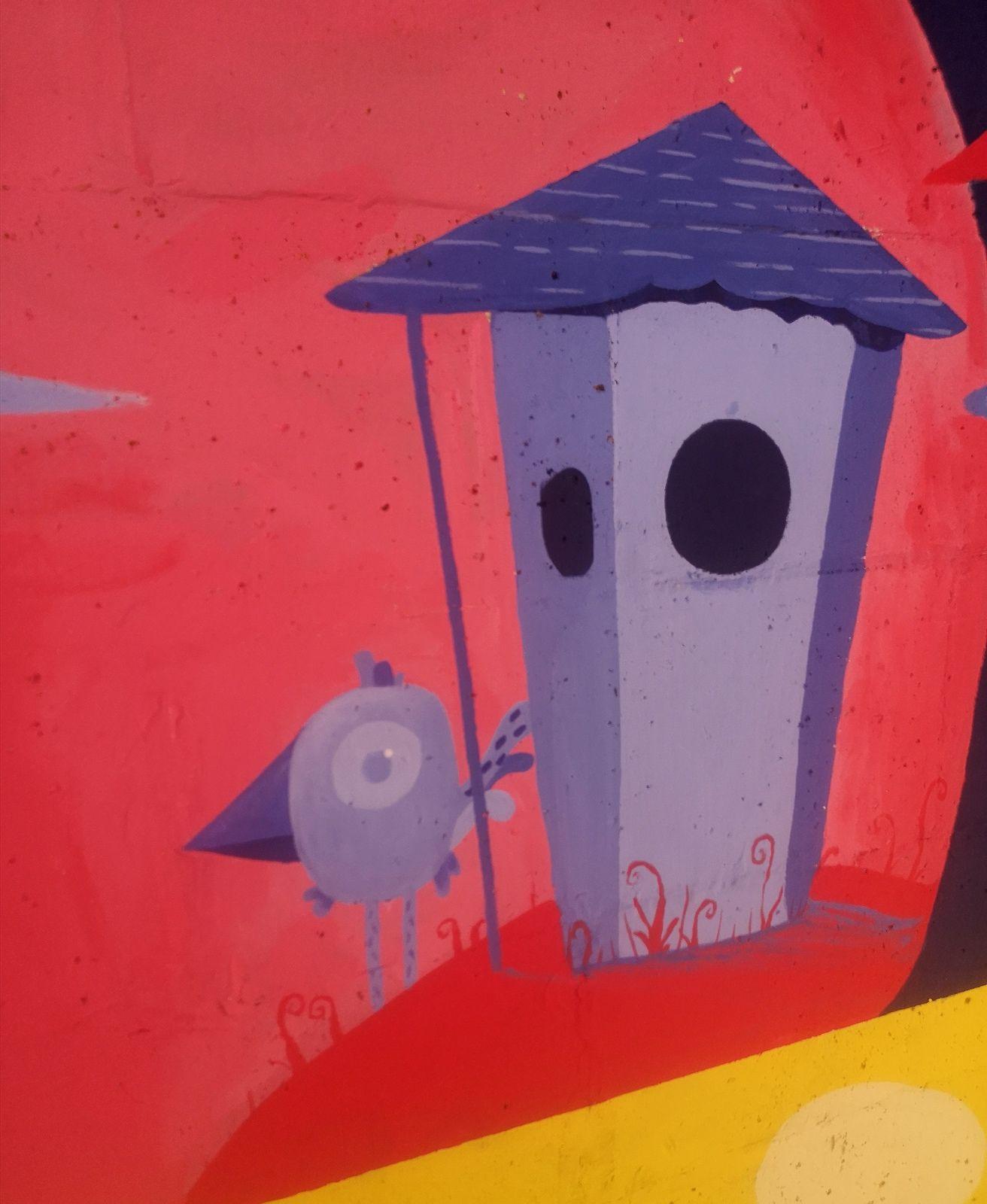Street art dans le quartier des olivettes à Nantes