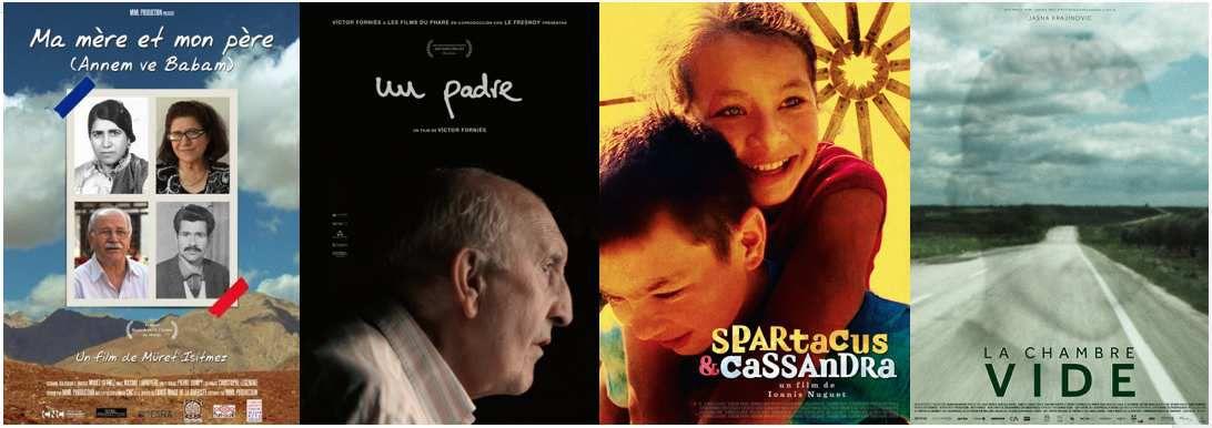 Quatre documentaires étalonnés sur le thème de la famille.