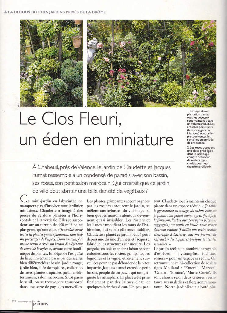 "Magazine ""L'art des jardins "" printemps 2010"