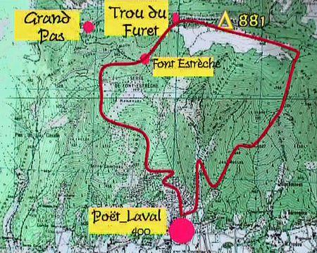Une de mes randonnées .....Les corniches du Poët-laval  Le trou du Furet -