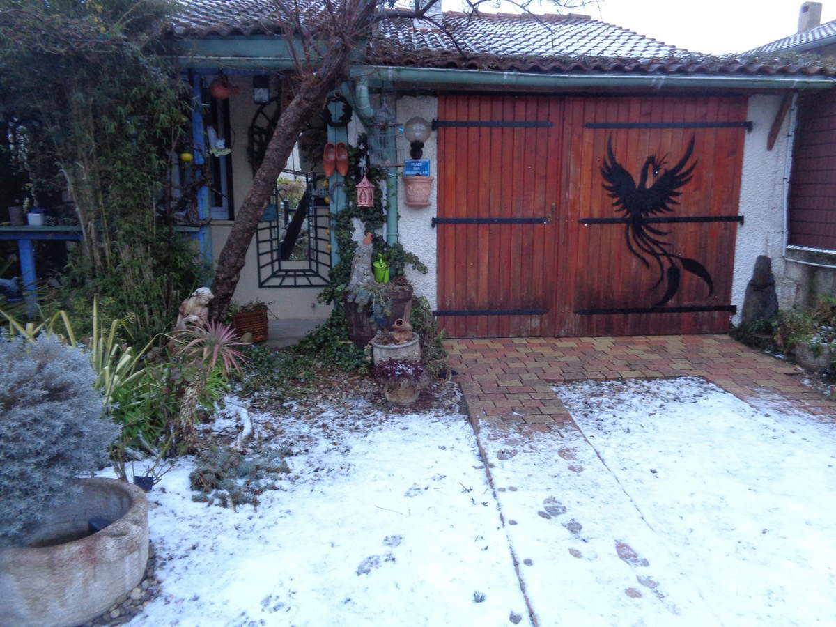 Encore la neige à Chabeuil ... La dernière de la saison ? et la 4ème .....