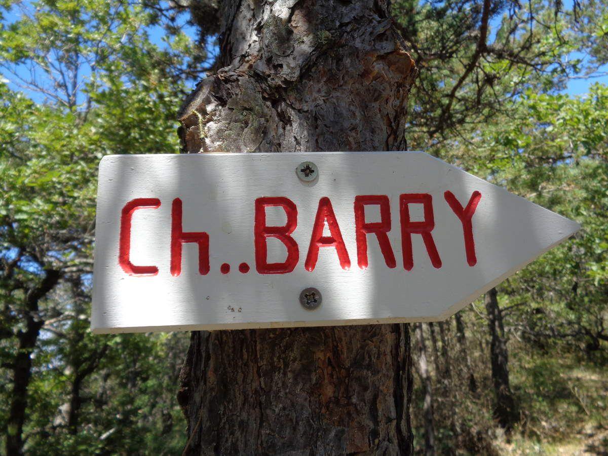 Une de mes randonnée : Le Château de Barry depuis Vercheny