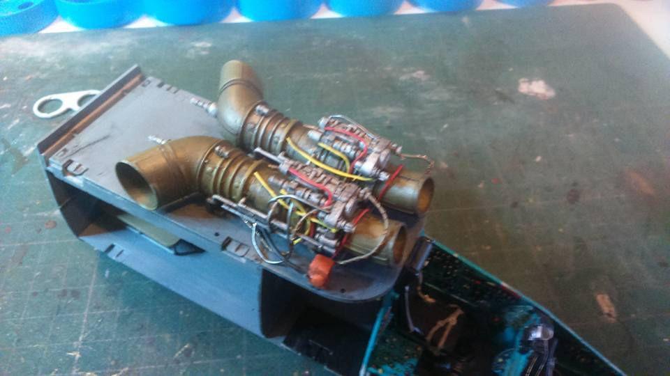 Mil Mi 24 HIND E - Les turbines