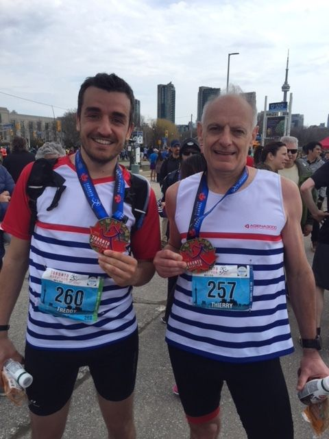 Thierry finisher au marathon de Toronto