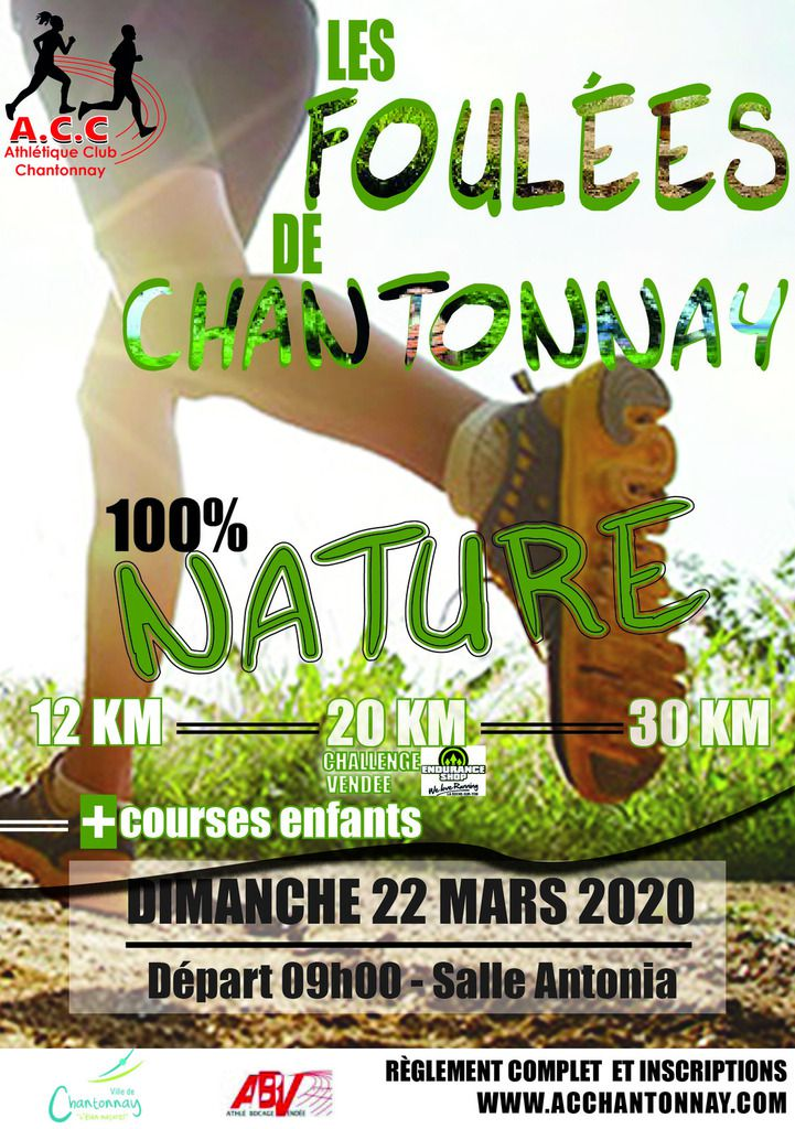 Foulees Chantonnay 2020 Prochaine Edition 100 Nature A C