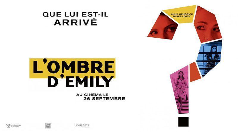 L'Ombre d'Emily, l'adaptation de DISPARUE de Darcey Bell, actuellement au cinéma