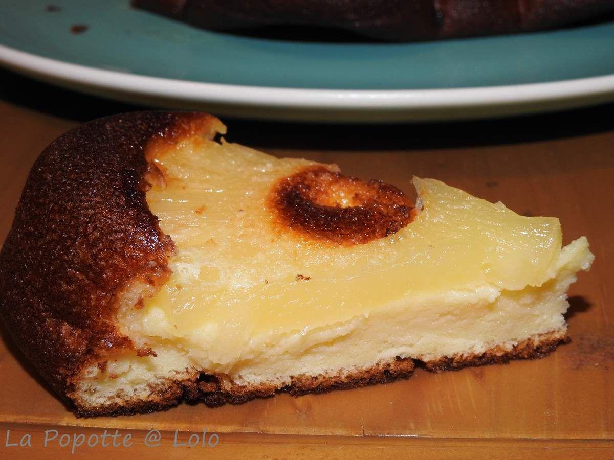 Gâteau léger au fromage blanc et ananas