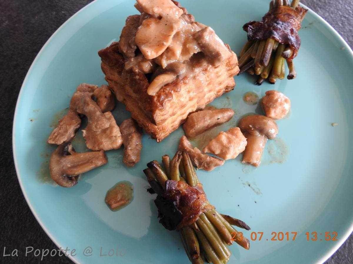 Croustades de veau, poulet et champignons